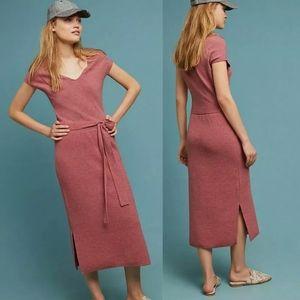 Anthropologie Matinee Wool Sweater Dress Maxi